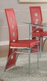Coaster Los Feliz Red Side Chair Available Online in Dallas Fort Worth Texas