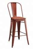 Coaster Rossine Red Galvanized Metal Bar Stool Available Online in Dallas Fort Worth Texas