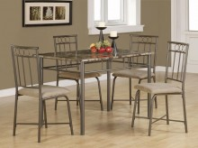 Coaster Dinette 5pc Gray Dining Room Set Available Online in Dallas Fort Worth Texas
