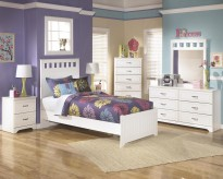 Lulu 5pc Twin Panel Bedroom Group Available Online in Dallas Fort Worth Texas