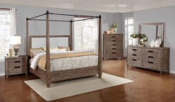 Madeleine Smoky Acacia Cal King Canopy Bed Available Online in Dallas Fort Worth Texas