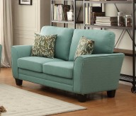 Homelegance Adair Teal Loveseat Available Online in Dallas Fort Worth Texas