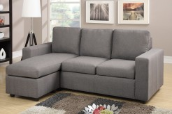 Updated Johnson Grey Sofa Chaise Available Online in Dallas Fort Worth Texas