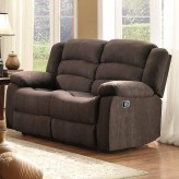 Greenville Brown Reclining Loveseat Available Online in Dallas Fort Worth Texas