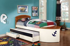 FOA Furniture Of America Voyager Captains Bed With Trundle/Storage Available Online in Dallas Fort Worth Texas