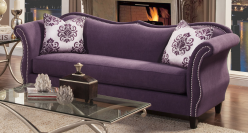 FOA Furniture Of America Zaffiro Lavender Sofa Available Online in Dallas Fort Worth Texas