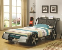 Coaster Rogan Race Car Twin Bed Available Online in Dallas Fort Worth Texas