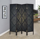 Coaster Tripod Black Four Panel Folding Floor Screen Available Online in Dallas Fort Worth Texas