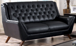 Leia Black Loveseat Available Online in Dallas Fort Worth Texas