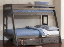 Wrangle Gun Smoke Twin/Full Bunk Bed Available Online in Dallas Fort Worth Texas