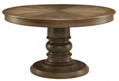 Coaster Rossine Antique Ash Brown Round Dining Table Available Online in Dallas Fort Worth Texas