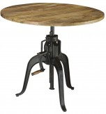 Coaster Galway Gunmetal Adjustable Height Dining Table Available Online in Dallas Fort Worth Texas