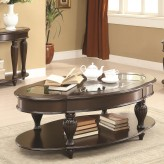 Coaster Mogan Dark Merlot Coffee Table Available Online in Dallas Fort Worth Texas