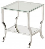 Coaster Walling Chrome End Table Available Online in Dallas Fort Worth Texas