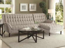 Coaster Natalia Dove Grey 2pc Sectional Available Online in Dallas Fort Worth Texas