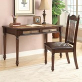 Coaster Landon 2pc Cherry Table Desk & Side Chair Set Available Online in Dallas Fort Worth Texas