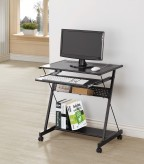 Coaster Pergola Black Computer Desk with Keyboard Drawer & Casters Available Online in Dallas Fort Worth Texas