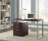 Yvette Cappuccino Writing Desk with File Drawer and Reversible Set-Up Available Online in Dallas Fort Worth Texas