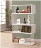 Brandy White Asymmetrical Snaking Bookshelf Available Online in Dallas Fort Worth Texas