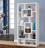 Coaster Almound White Geometric Cubed Rectangular Bookshelf Available Online in Dallas Fort Worth Texas