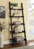 Coaster The Akward Cappuccino Ladder Bookcase with 5 Shelves Available Online in Dallas Fort Worth Texas