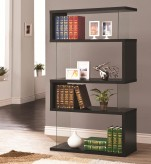 Coaster The Akward Black Asymmetrical Snaking Bookshelf Available Online in Dallas Fort Worth Texas