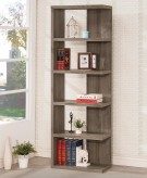 Lefty Weathered Grey Semi-Backless Bookcase Available Online in Dallas Fort Worth Texas