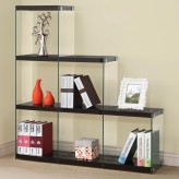 Coaster Enedina Glossy Black Bookcase with Glass Sides Available Online in Dallas Fort Worth Texas
