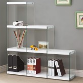 Coaster Enedina Glossy White Bookcase with Glass Sides Available Online in Dallas Fort Worth Texas