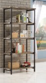 Coaster Skelton Black Salvaged Cabin Bookcase Available Online in Dallas Fort Worth Texas