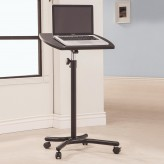 Coaster Desks Black Laptop Stand with Casters Available Online in Dallas Fort Worth Texas