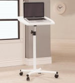 Coaster Desks White Laptop Stand with Casters Available Online in Dallas Fort Worth Texas