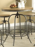 Coaster Taldara Antique Black Adjustable Bar Table Available Online in Dallas Fort Worth Texas