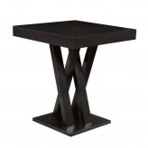 Coaster Selva Cappuccino Crisscross Bar Table with Square Table Top Available Online in Dallas Fort Worth Texas