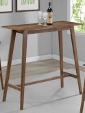 Coaster Gabriel Natural Walnut Rectangular Bar Table Available Online in Dallas Fort Worth Texas