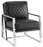 Coaster Knottley Black Leatherette Accent Chair Available Online in Dallas Fort Worth Texas
