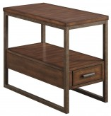 Coaster Sabool Light Brown Drawer Chairside Table Available Online in Dallas Fort Worth Texas