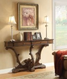 Eclectic Brown Console Table Available Online in Dallas Fort Worth Texas