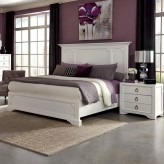 Furiani White Cal King Panel Bed Available Online in Dallas Fort Worth Texas
