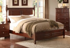 Morelle Cherry Queen Bed Available Online in Dallas Fort Worth Texas