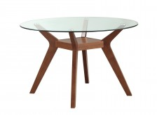 Coaster Paxton Nutmeg Round Dining Table Available Online in Dallas Fort Worth Texas