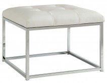 Coaster Alambar White Ottoman Available Online in Dallas Fort Worth Texas