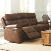 Coaster Damiano Brown Reclining Sofa Available Online in Dallas Fort Worth Texas