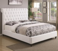 Coaster Devon White Cal King Upholstered Bed Available Online in Dallas Fort Worth Texas