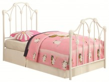 Coaster Scarlett White Twin Bed Available Online in Dallas Fort Worth Texas