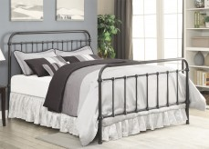 Livingston Dark Bronze King Metal Bed Available Online in Dallas Fort Worth Texas