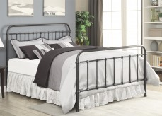 Livingston Dark Bronze Cal King Metal Bed Available Online in Dallas Fort Worth Texas