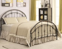 Tringall Dark Bronze Queen Metal Bed Available Online in Dallas Fort Worth Texas