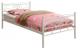Coaster Bailey White Twin Panel Bed Available Online in Dallas Fort Worth Texas