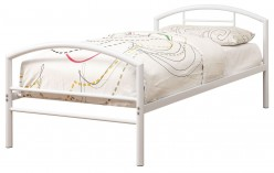 Coaster Baines White Twin Metal Panel Bed Available Online in Dallas Fort Worth Texas